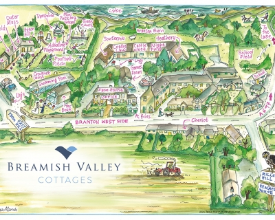 Breamish Valley Holiday Cottages map