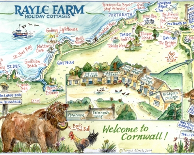 Rayle Farm Holiday Cottages map